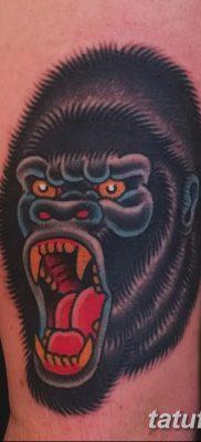 фото тату горилла от 27.08.2017 №116 – Gorilla tattoo – tatufoto.com