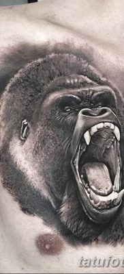 фото тату горилла от 27.08.2017 №117 – Gorilla tattoo – tatufoto.com