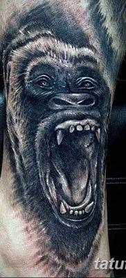 фото тату горилла от 27.08.2017 №120 – Gorilla tattoo – tatufoto.com