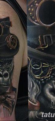 фото тату горилла от 27.08.2017 №125 – Gorilla tattoo – tatufoto.com