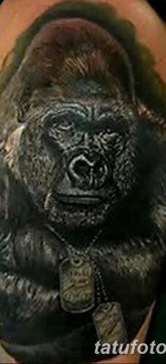 фото тату горилла от 27.08.2017 №131 – Gorilla tattoo – tatufoto.com