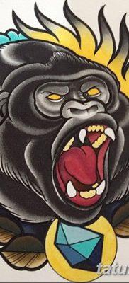 фото тату горилла от 27.08.2017 №132 – Gorilla tattoo – tatufoto.com