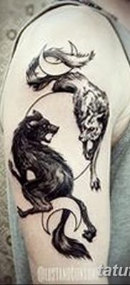 фото тату два волка от 19.08.2017 №009 – Tattoo two wolves_tatufoto.com