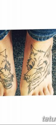 фото тату два волка от 19.08.2017 №028 – Tattoo two wolves_tatufoto.com