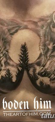 фото тату два волка от 19.08.2017 №035 – Tattoo two wolves_tatufoto.com