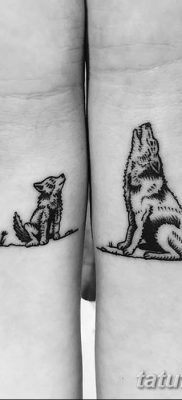 фото тату два волка от 19.08.2017 №041 – Tattoo two wolves_tatufoto.com