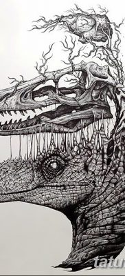 фото тату динозавр от 18.08.2017 №147 – Dinosaur tattoo_tatufoto.com