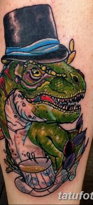 фото тату динозавр от 18.08.2017 №159 – Dinosaur tattoo_tatufoto.com