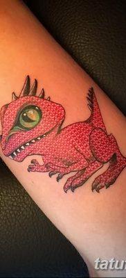 фото тату динозавр от 18.08.2017 №170 – Dinosaur tattoo_tatufoto.com