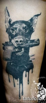 фото тату доберман от 18.08.2017 №011 – Doberman tattoo_tatufoto.com