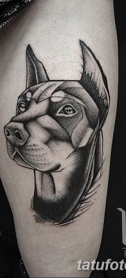 фото тату доберман от 18.08.2017 №028 – Doberman tattoo_tatufoto.com