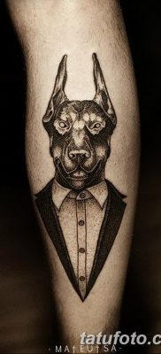 фото тату доберман от 18.08.2017 №048 – Doberman tattoo_tatufoto.com