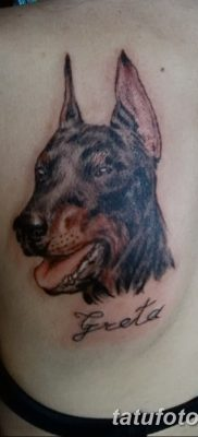 фото тату доберман от 18.08.2017 №092 – Doberman tattoo_tatufoto.com
