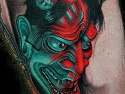 фото тату дьявол от 25.08.2017 №002 - Tattoo 13 - Devil tattoo - tatufoto.com