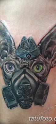 фото тату противогаз от 11.08.2017 №001 – Tattoo gas mask_tatufoto.com