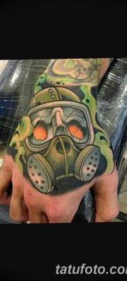 фото тату противогаз от 11.08.2017 №003 – Tattoo gas mask_tatufoto.com