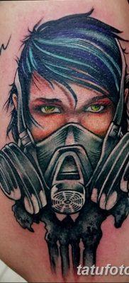 фото тату противогаз от 11.08.2017 №004 – Tattoo gas mask_tatufoto.com