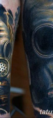 фото тату противогаз от 11.08.2017 №005 – Tattoo gas mask_tatufoto.com