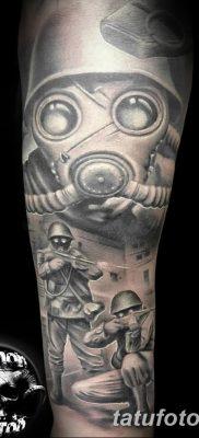 фото тату противогаз от 11.08.2017 №007 – Tattoo gas mask_tatufoto.com