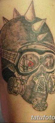 фото тату противогаз от 11.08.2017 №008 – Tattoo gas mask_tatufoto.com
