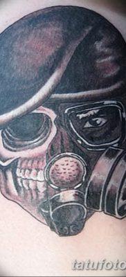 фото тату противогаз от 11.08.2017 №009 – Tattoo gas mask_tatufoto.com