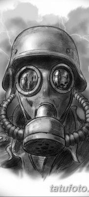фото тату противогаз от 11.08.2017 №010 – Tattoo gas mask_tatufoto.com