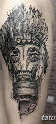 фото тату противогаз от 11.08.2017 №012 – Tattoo gas mask_tatufoto.com