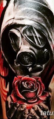 фото тату противогаз от 11.08.2017 №015 – Tattoo gas mask_tatufoto.com