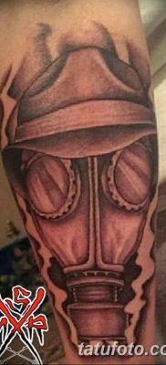 фото тату противогаз от 11.08.2017 №017 – Tattoo gas mask_tatufoto.com