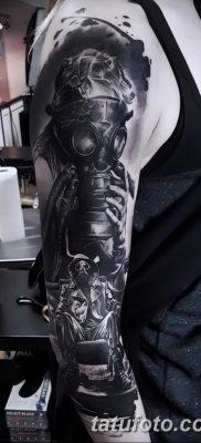 фото тату противогаз от 11.08.2017 №018 – Tattoo gas mask_tatufoto.com