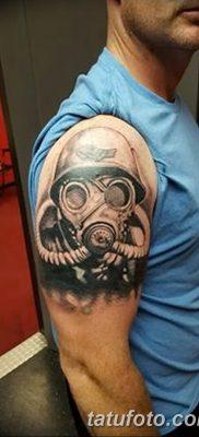 фото тату противогаз от 11.08.2017 №019 – Tattoo gas mask_tatufoto.com