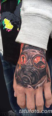 фото тату противогаз от 11.08.2017 №020 – Tattoo gas mask_tatufoto.com