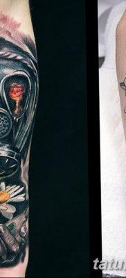 фото тату противогаз от 11.08.2017 №022 – Tattoo gas mask_tatufoto.com
