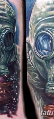 фото тату противогаз от 11.08.2017 №025 – Tattoo gas mask_tatufoto.com