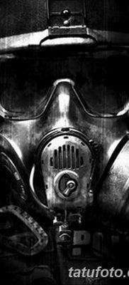 фото тату противогаз от 11.08.2017 №027 – Tattoo gas mask_tatufoto.com
