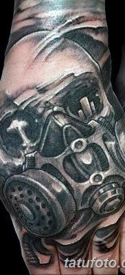 фото тату противогаз от 11.08.2017 №028 – Tattoo gas mask_tatufoto.com