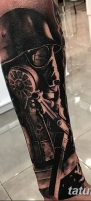 фото тату противогаз от 11.08.2017 №029 – Tattoo gas mask_tatufoto.com