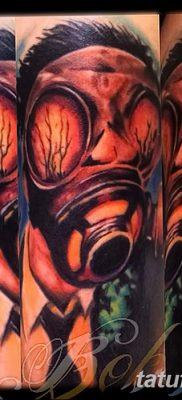 фото тату противогаз от 11.08.2017 №031 – Tattoo gas mask_tatufoto.com