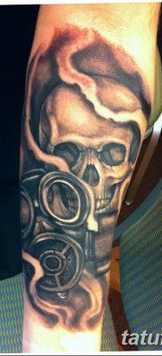 фото тату противогаз от 11.08.2017 №034 – Tattoo gas mask_tatufoto.com