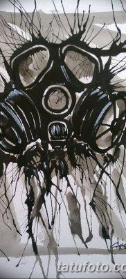 фото тату противогаз от 11.08.2017 №040 – Tattoo gas mask_tatufoto.com