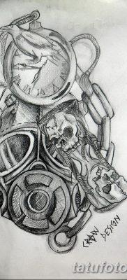 фото тату противогаз от 11.08.2017 №042 – Tattoo gas mask_tatufoto.com
