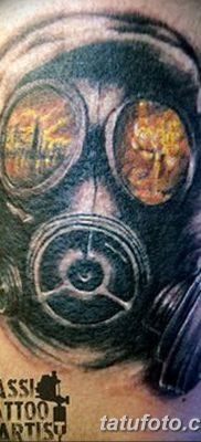 фото тату противогаз от 11.08.2017 №043 – Tattoo gas mask_tatufoto.com
