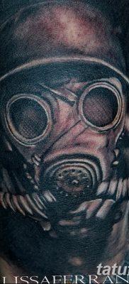 фото тату противогаз от 11.08.2017 №139 – Tattoo gas mask_tatufoto.com