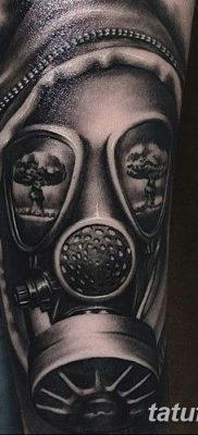 фото тату противогаз от 11.08.2017 №142 – Tattoo gas mask_tatufoto.com