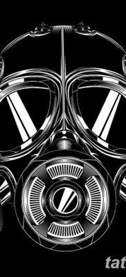 фото тату противогаз от 11.08.2017 №143 – Tattoo gas mask_tatufoto.com