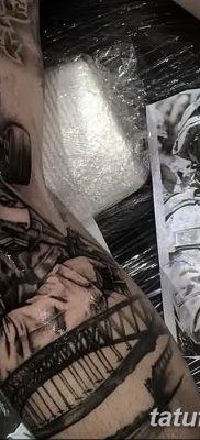 фото тату противогаз от 11.08.2017 №144 – Tattoo gas mask_tatufoto.com