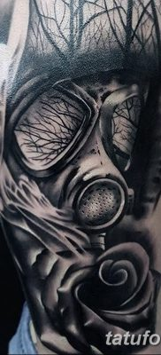 фото тату противогаз от 11.08.2017 №146 – Tattoo gas mask_tatufoto.com