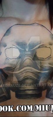 фото тату противогаз от 11.08.2017 №148 – Tattoo gas mask_tatufoto.com