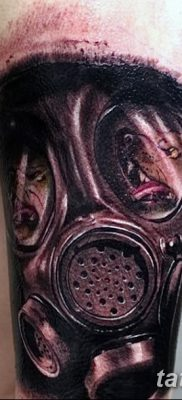 фото тату противогаз от 11.08.2017 №154 – Tattoo gas mask_tatufoto.com