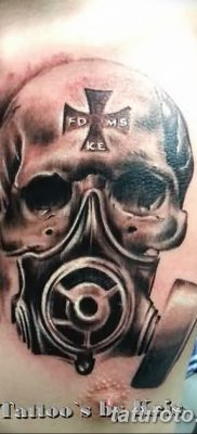 фото тату противогаз от 11.08.2017 №158 – Tattoo gas mask_tatufoto.com